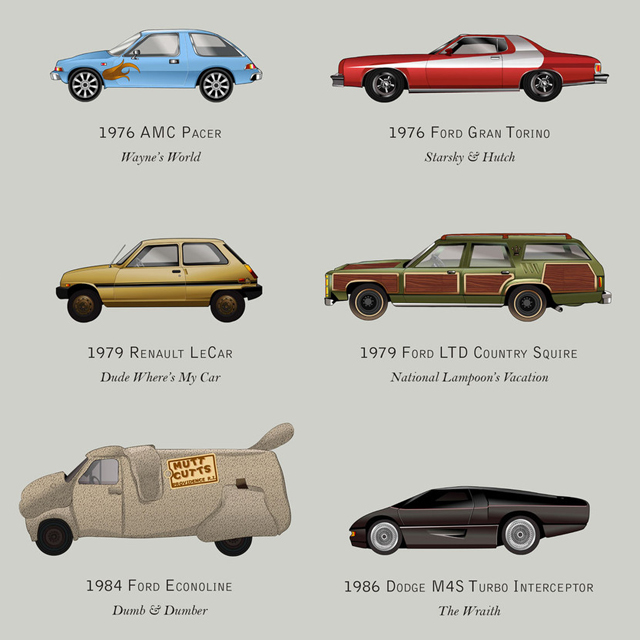 Iconic cars from the movie screen!